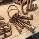 Schlüssel im Rost-Look - gewandungstauglich