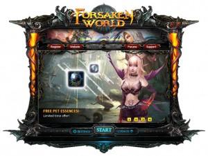 Forsaken World Launcher - mehr habe ich vom Spiel nicht zu sehen bekommen