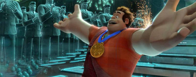 Endlich seine Medaille