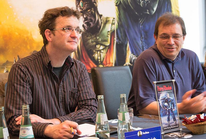 Chefredakteur Klaus N. Frick und Andreas Eschbach