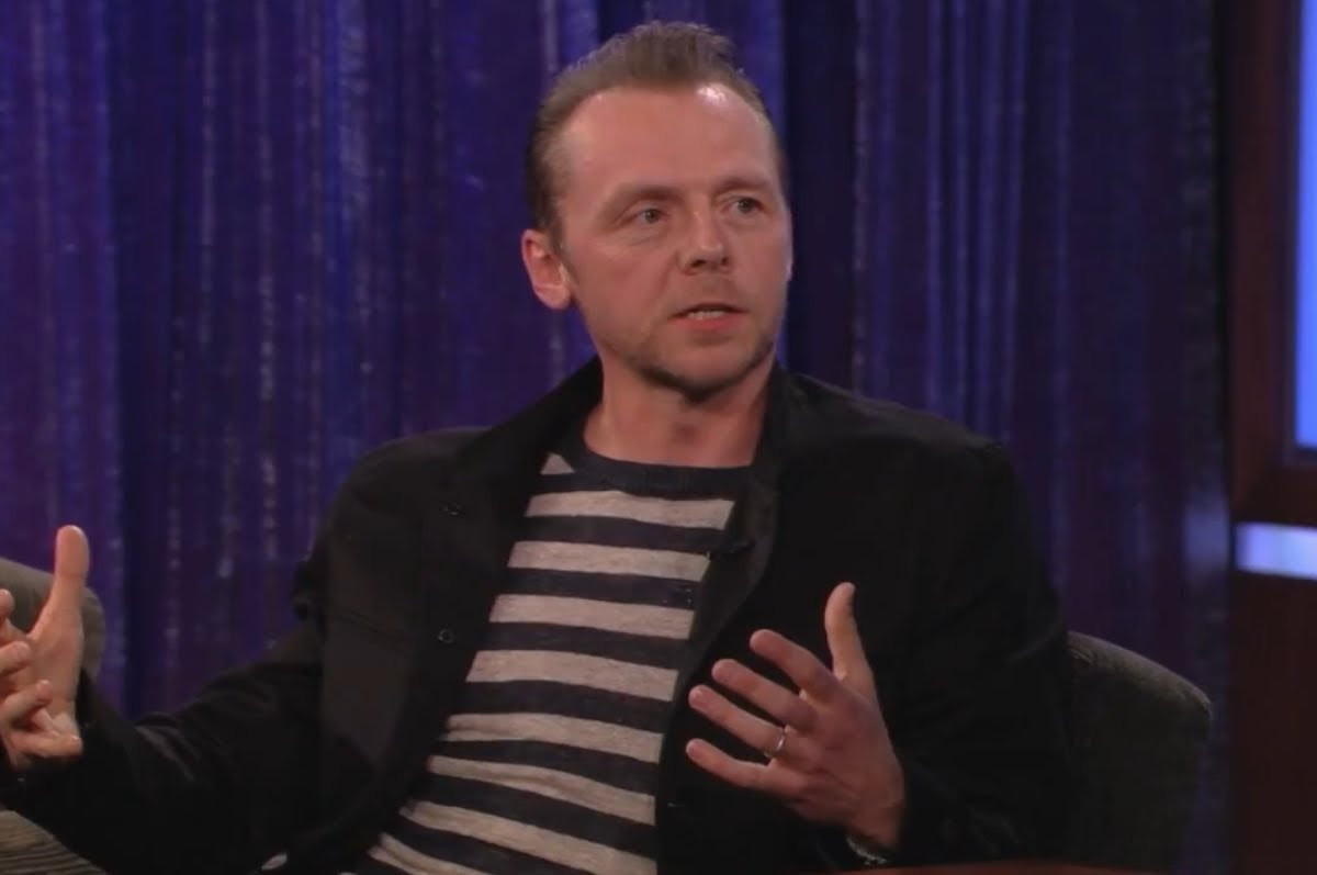 Simon Pegg bei Jimmy Kimmel – Neutronencreme!