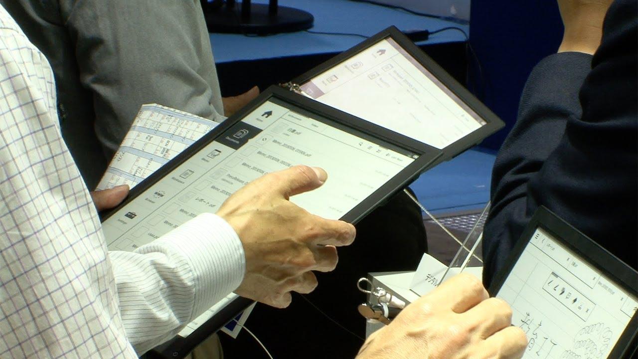 Sonys digitales Notizbuch mit eInk-Display