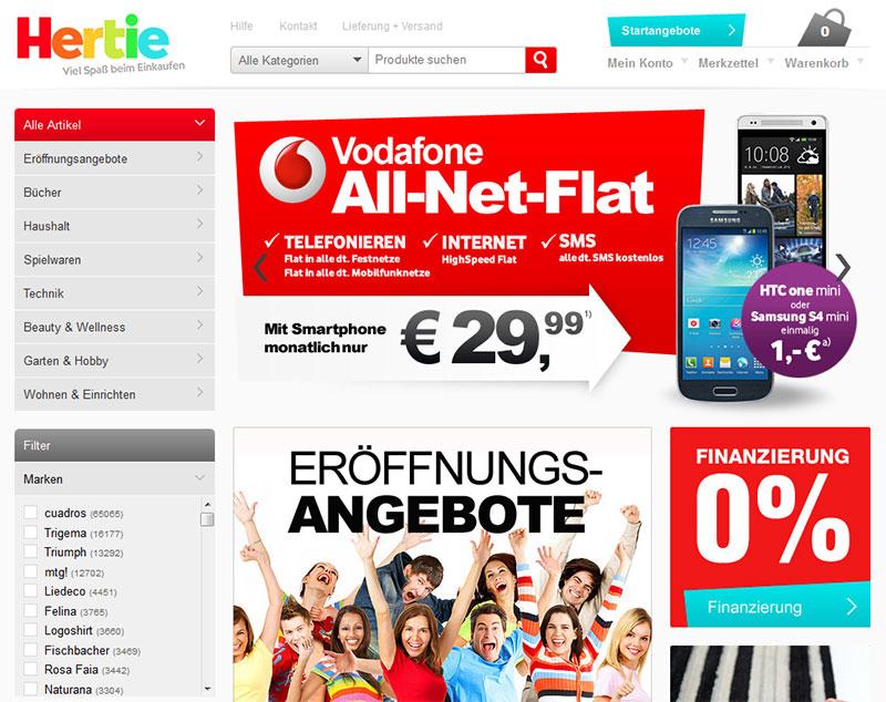Neuer Onlineshop: Hertie – »den bekannten Global Playern die Stirn bieten«