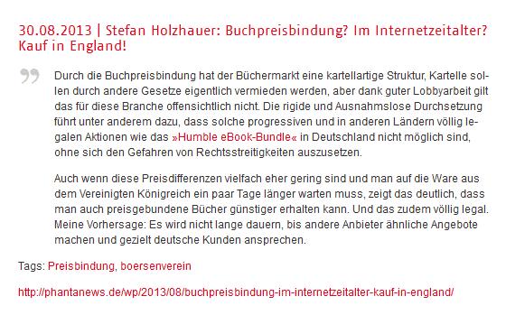 Der Börsenverein Und Das Leistungsschutzrecht Phantanews
