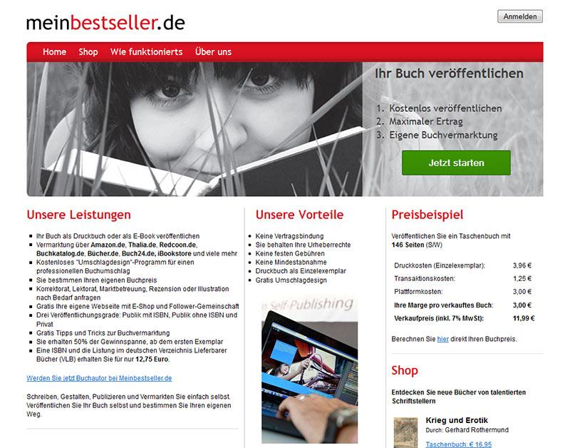 Selfpublishing: meinbestseller.de nimmt den Mund voll