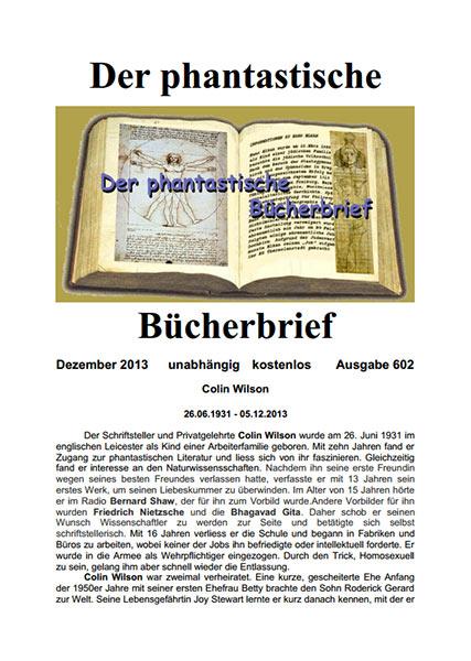 DER PHANTASTISCHE BÜCHERBRIEF 602