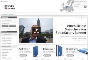 Webseite Booksfactory