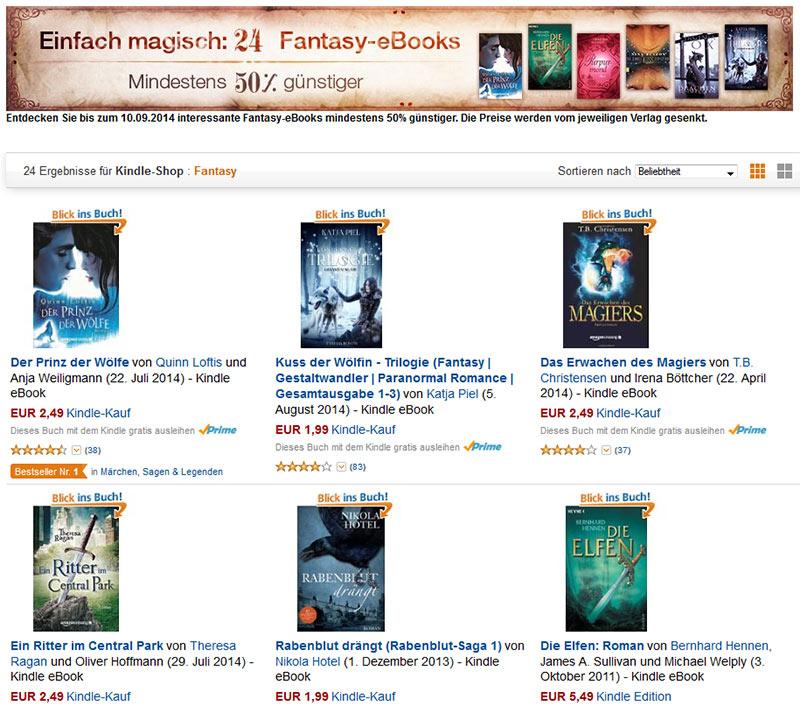 24 Fantasy-eBooks günstig bei Amazon