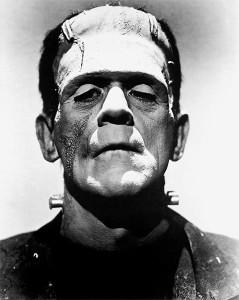 Boris Karloff als Frankenstein