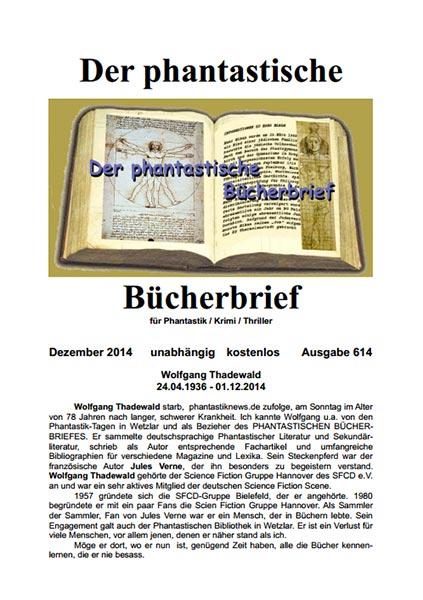 Der Phantastische Bücherbrief 614 – Dezember 2014