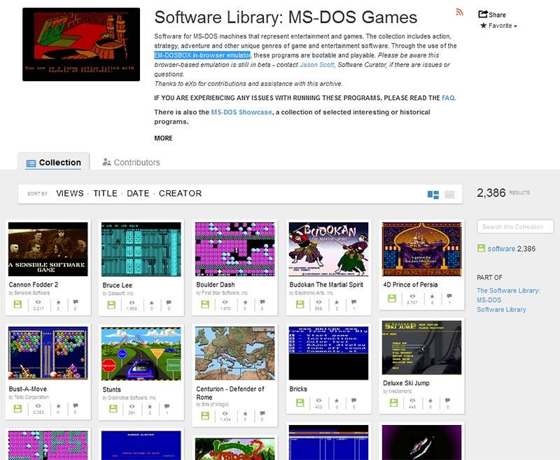 Retro-Gamer: 2400 DOS-Spiele kostenlos und legal verfügbar