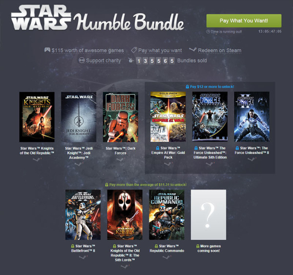 Star Wars Humble Bundle