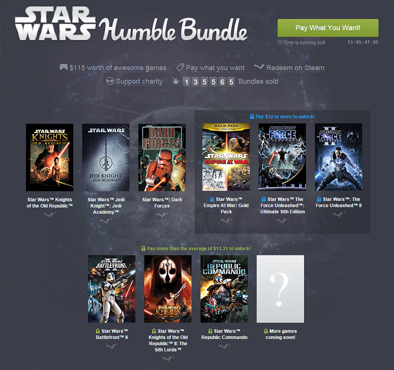 Das STAR WARS HUMBLE BUNDLE