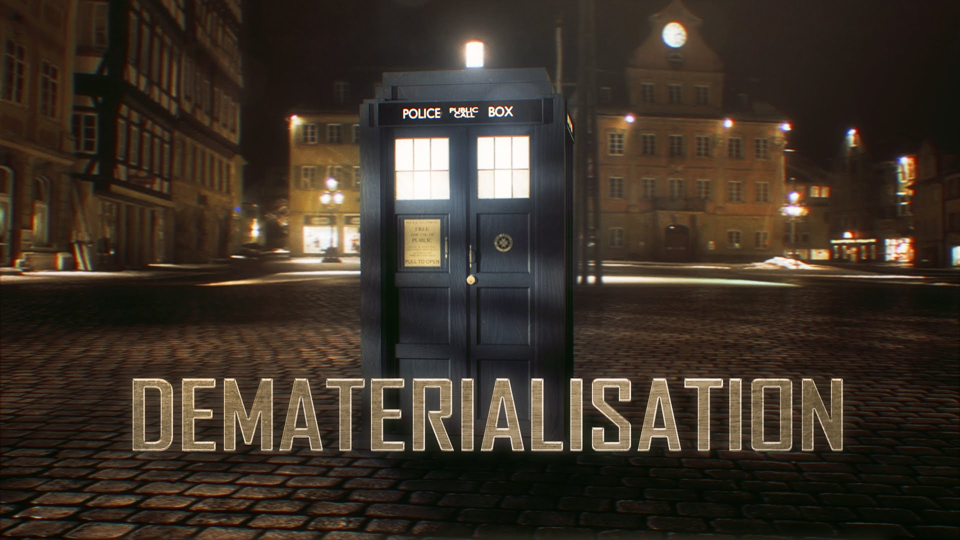 DOCTOR WHO Special Effect-Video: DEMATERIALISATION