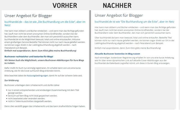 buchhandel.de: vorher - nachher - Klick für Vergrößerung