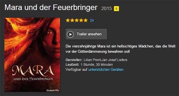 MARA UND DER FEUERBRINGER ab sofort bei Amazon Video