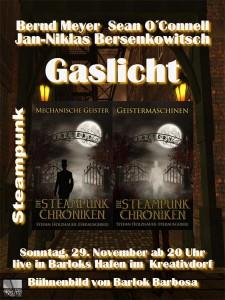 Poster Gaslicht-Lesung
