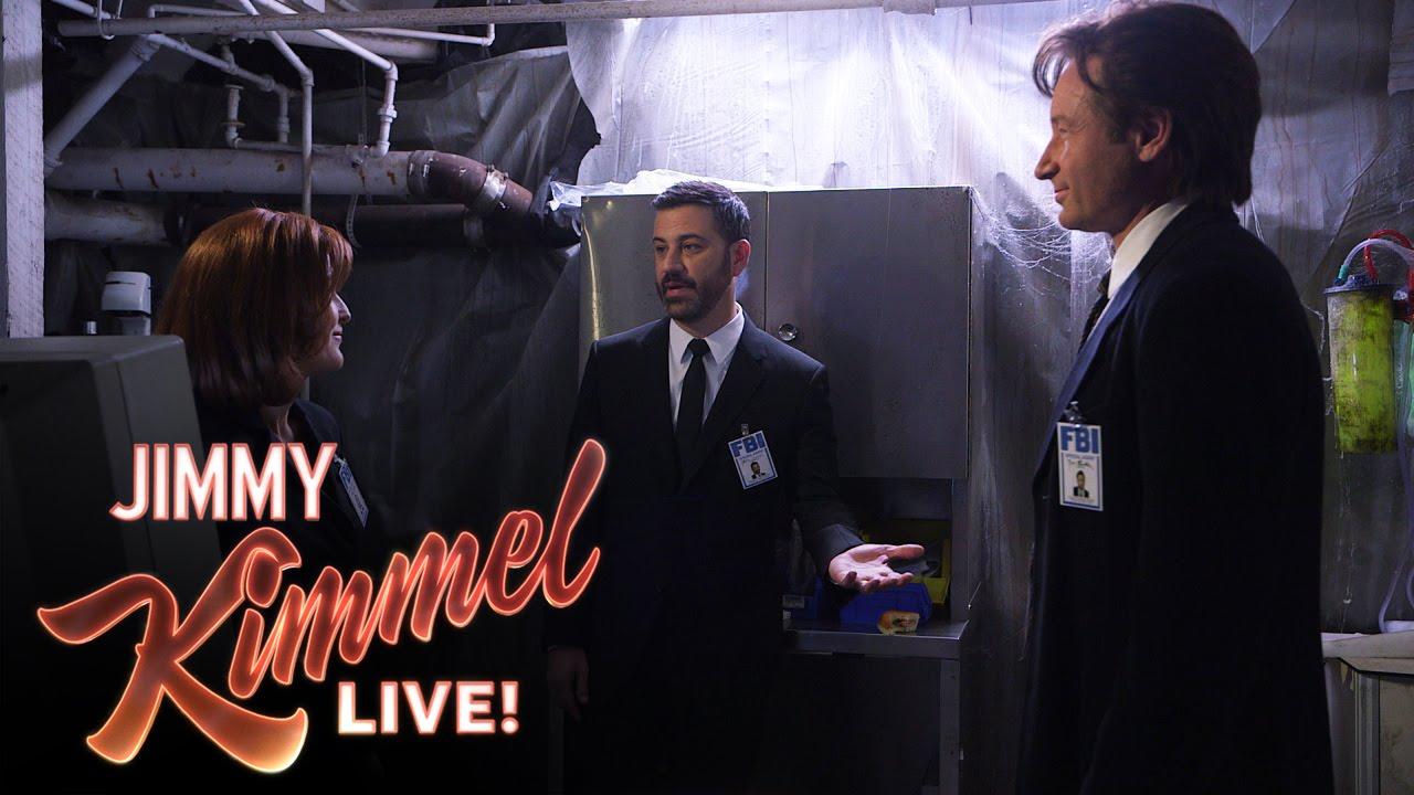 Mulder und Scully bei Jimmy Kimmel