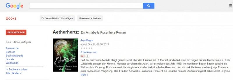 Aetherhertz bei Google