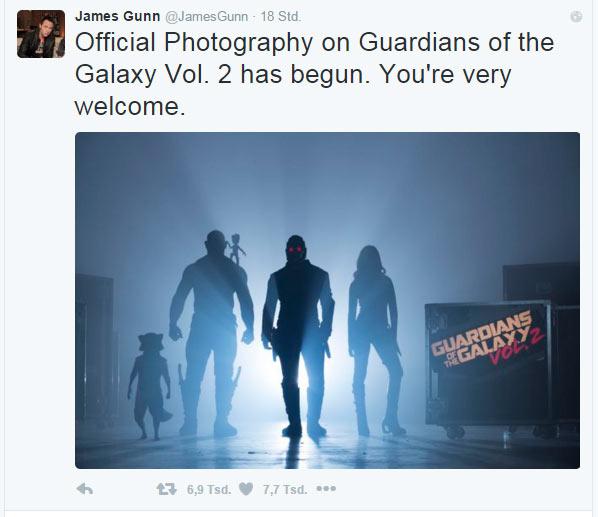 GUARDIANS OF THE GALAXY 2: Dreharbeiten haben begonnen