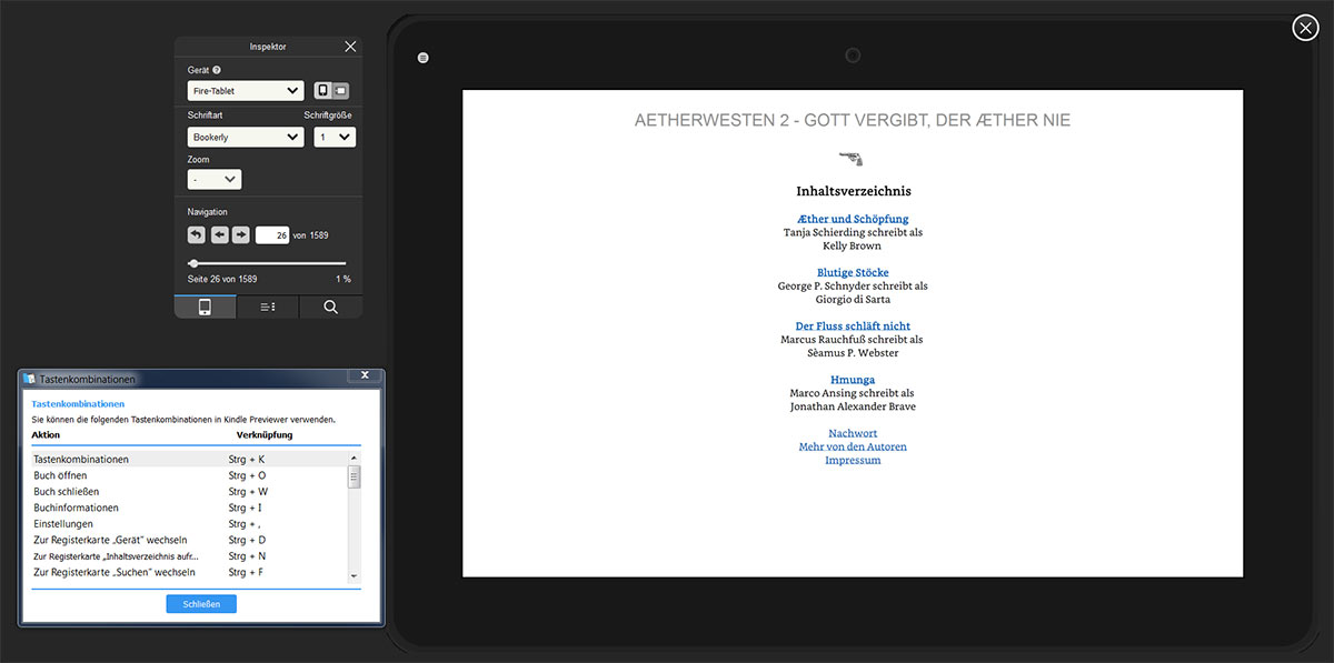 Neue Beta von Amazons Kindle-Previewer