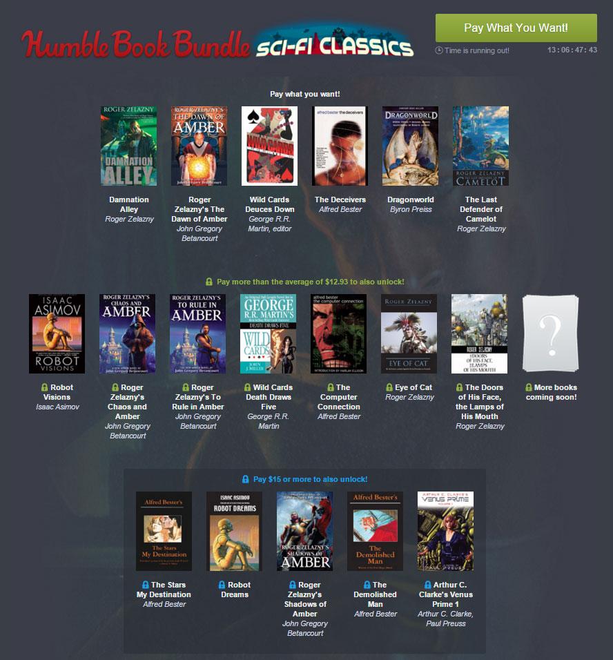 Das Humble Book Bundle Sci-Fi Classics