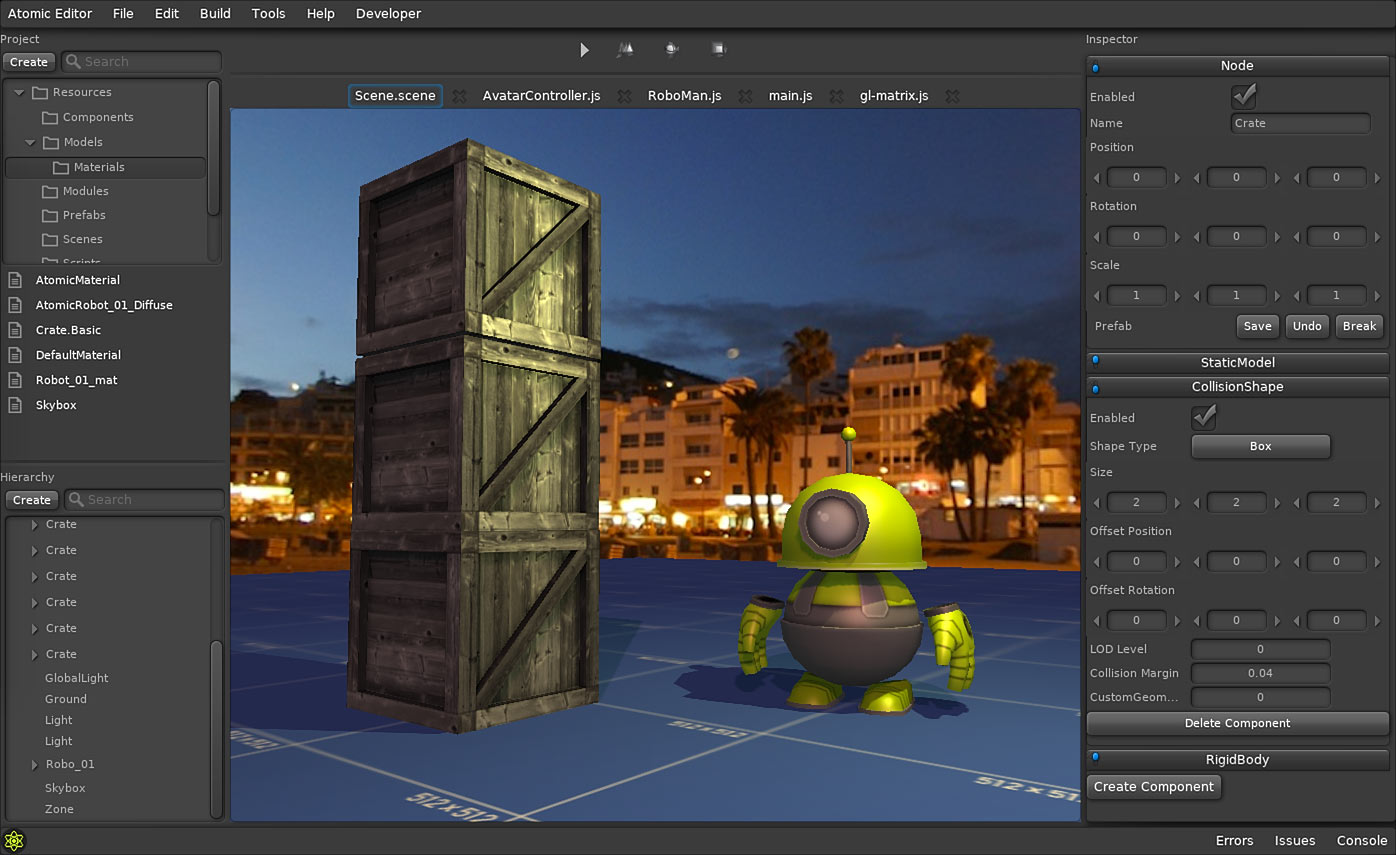 Atomic Game Engine ist jetzt Open Source