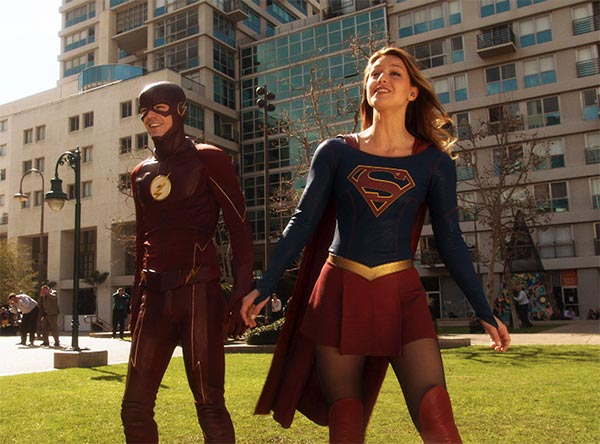 Flash und Supergirl