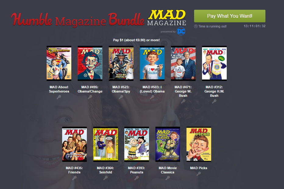 Das Humble Magazine Bundle – MAD Magazine
