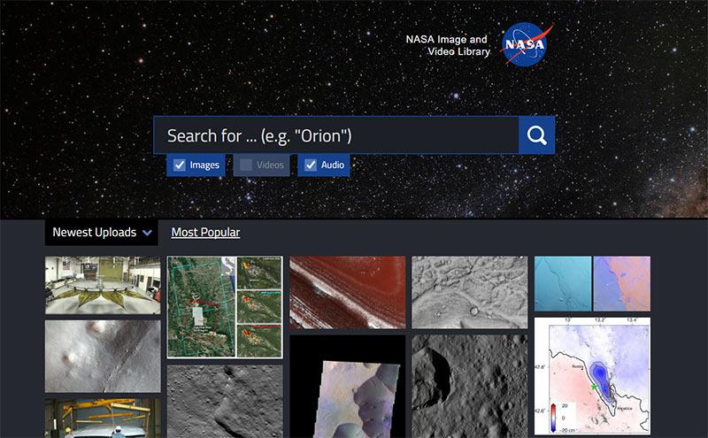 Space, the final frontier: Die NASA-Bildersuche