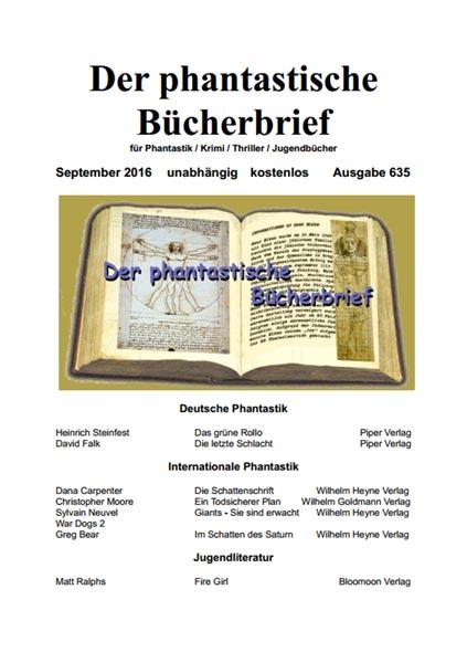 DER PHANTASTISCHE BÜCHERBRIEF 635
