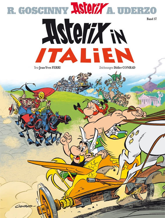 ASTERIX IN ITALIEN – das Cover