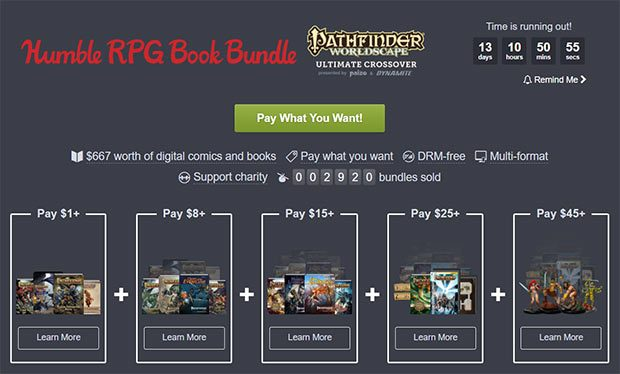 HUMBLE RPG BOOK BUNDLE: PATHFINDER