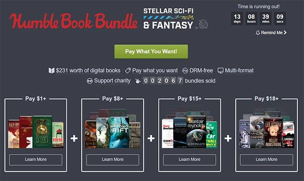 Humble Book Bundle: Stellar SF &Fantasy für kleines Geld
