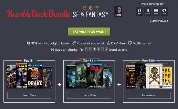 Lesestoff für kleines Geld: Humble Book Bundle: SF &Fantasy