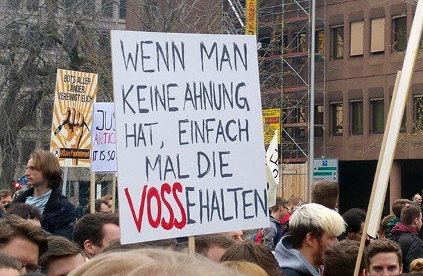 #saveyourinternet Demos: Wir sind alle nur gekauft!
