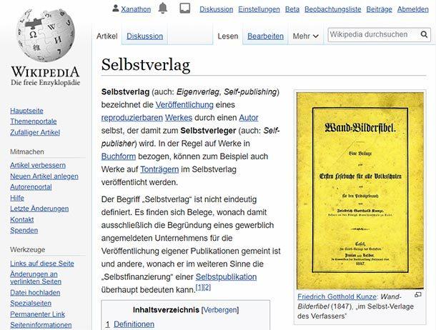 Deutsche Wikipedia gegen Selfpublisher