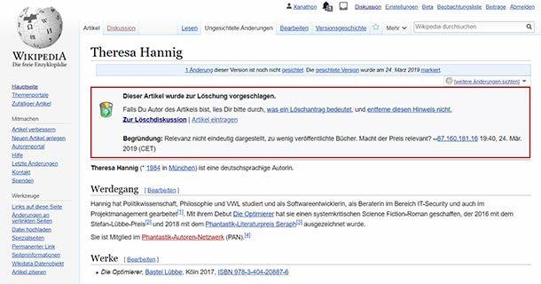 Wikipedia.de – oder auch: misogynemaennerclique.de