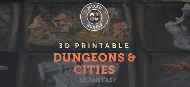 Humble 3D Printable Dungeons & Cities Bundle