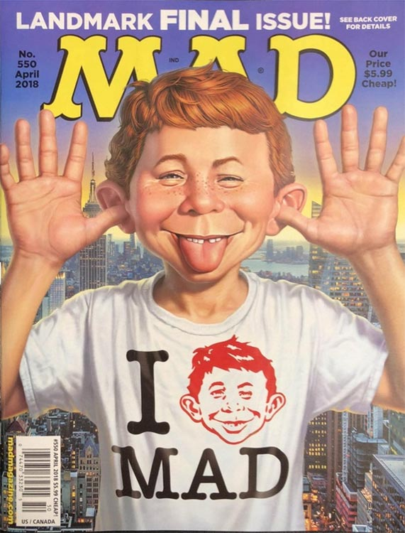 Nach 67 Jahren: Das MAD Magazine wird eingestellt