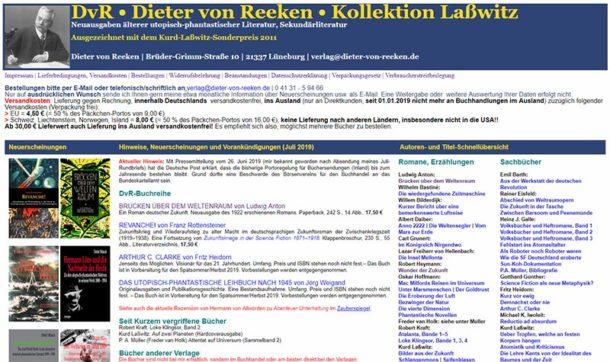 Verlag Dieter von Reeken gibt Tätigkeit auf
