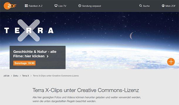 ZDF stellt TERRA X‑Clips unter Creative Commons Lizenz