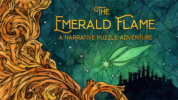 Kickstarter: THE EMERALD FLAME – A Narrative Puzzle Game