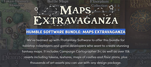 HUMBLE SOFTWARE BUNDLE: MAPS EXTRAVAGANZA