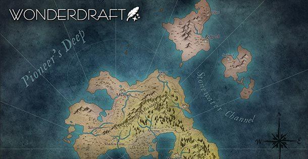 Software zur Erstellung von Fantasy-Landkarten: WONDERDRAFT