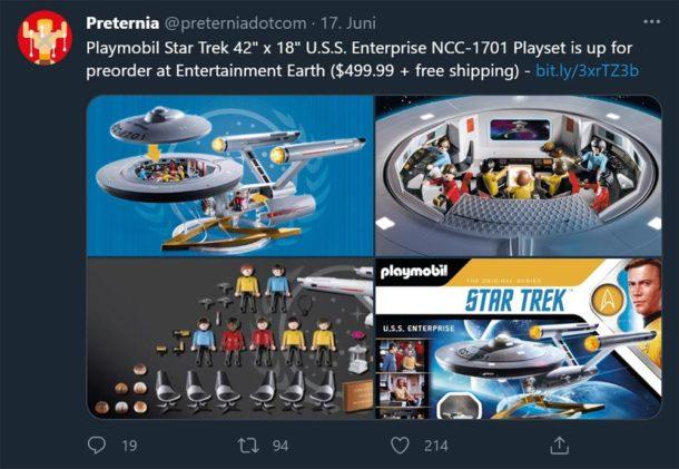 Im September: Playmobil-Enterprise
